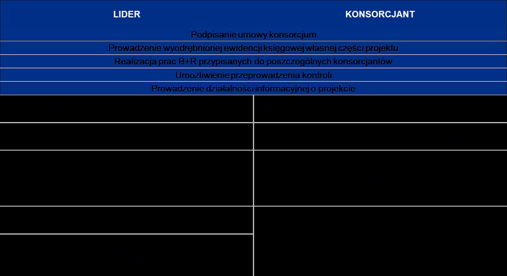 CRIDO - podział obowiązków w konsorcjum
